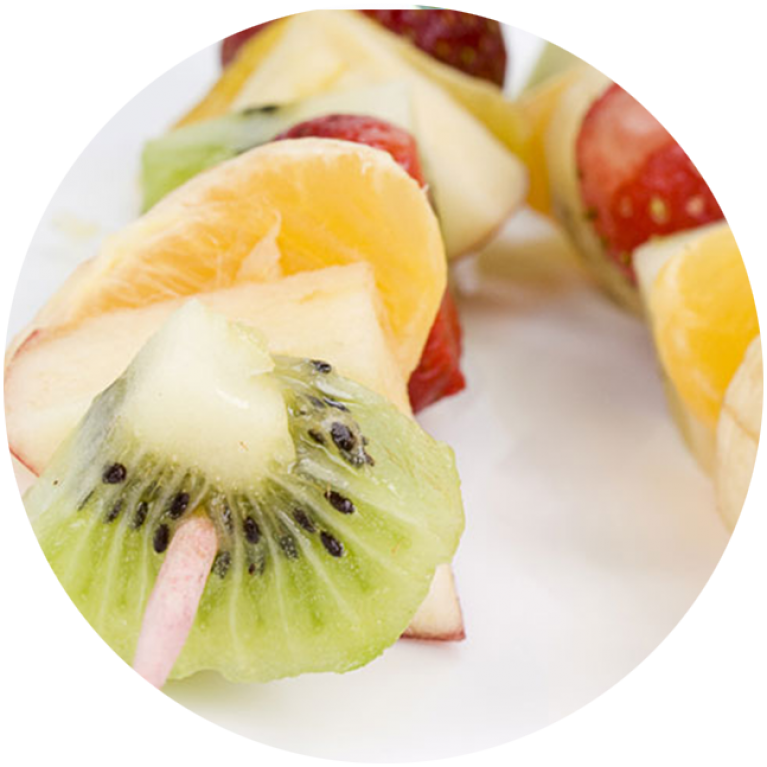 Exotic fruit brochettes